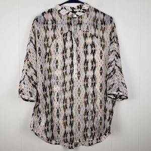 MNG Suit by Mango Sheer Blouse Size XS